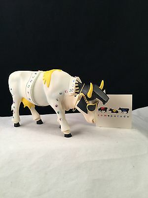Cow Parade Rock-N-Roll with tag