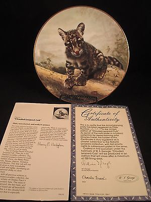 Clouded Leopard Cub Nature's Lovables Plate Collection 6th in Series COA