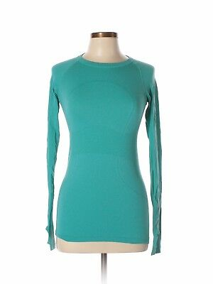 Lululemon Athletica Size 6 Swiftly Tech Long Sleeve Crew Top Teal