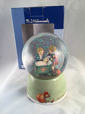 Hummel Blessed Event Musical Waterglobe Goebel  w/Box