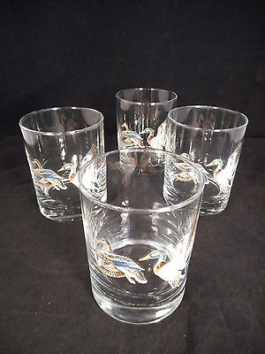 Norman Rockwell Duck Old Fashioned Glasses, Set of 4