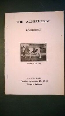 Alderhurst Farm Holstein Dispersal Sale Catalog 1962 Elkhart Indiana