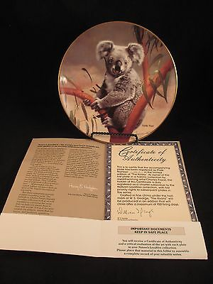 The Koala Nature's Lovables Plate Collection 1st in Series COA
