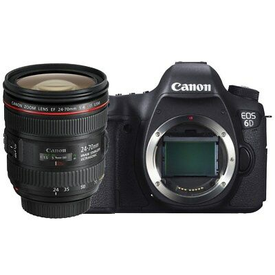 Canon EOS 6D 20.2 MP Camera with 24-70mm F4 L IS USM Multi Language AU