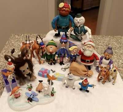 Rudolph Reindeer Memory Lane Action Figure Lot 20+ pieces