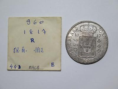 Brazil 1817 R 960 Reis Struck Over 8 Reales Ex:kurt Prober Old Coin Collection K