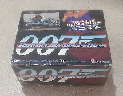 "1997 Inkworks ""James Bond - Tomorrow Never Dies"" - Factory Sealed Box - 36 Packs"
