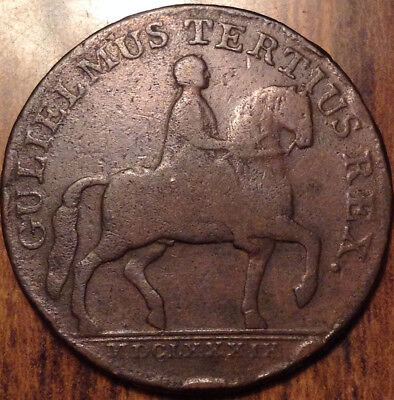 1791 Uk Gb Great Britain Half Penny Token
