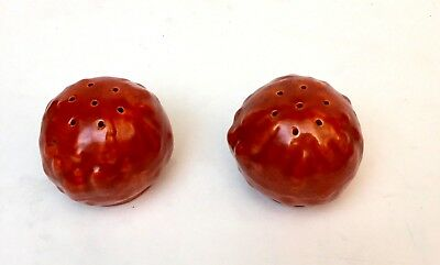 Catalina Island Pottery Red Clay Gourd Salt & Pepper
