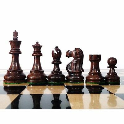 """3.8"""" Reproduced Rosewood Reykjavik Weighted Wooden Chess Pieces Extra queens"""