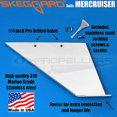 Mercruiser ALPHA 1 GEN 2 Skeg Guard (1991 & Newer) Stainless Skeggard 99003