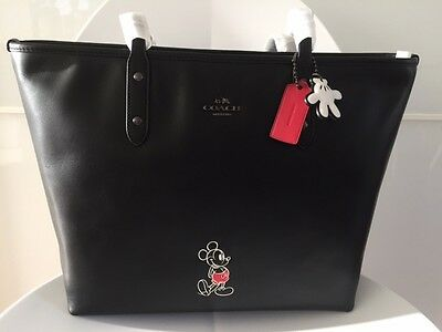 Coach Disney Mickey Mouse Tote 2016 Nwt Brand New