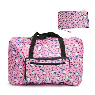 Hello Kitty Hot Pink Travel Foldable Waterproof Luggage Bag Duffle Bag KK955