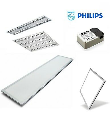 New LED Panel T5 Fluro Office T Bar Troffer Light Philips Driver Free Shipping