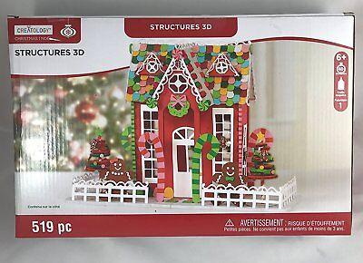 Christmas 3D Structure Gingerbread House Craft Foam Kit 519 Pieces
