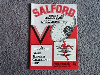 Salford v Featherstone Rovers 1983