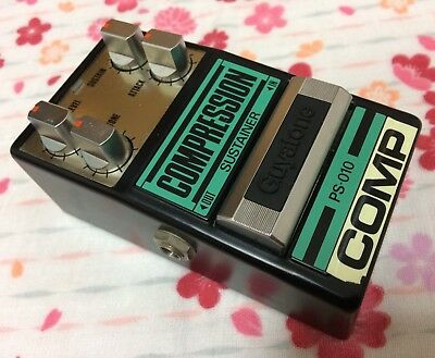Guyatone Compressor Sustainer PS-010 Vintage Japan MIJ w/box&papers. Exc. Cond!
