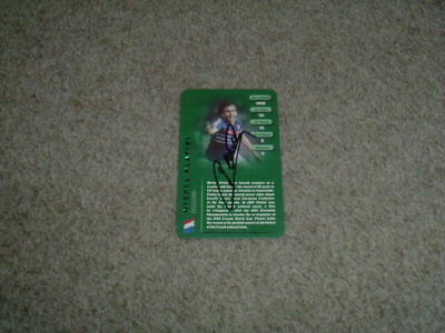 Michel Platini - France - Signed Top Trumps Football Legend Trade Card
