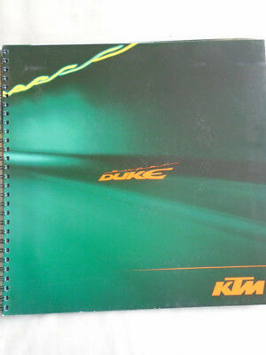 KTM 990 Super Duke motorcycle brochure c2007 English text