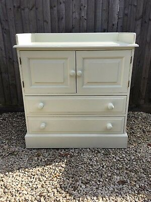 Baby changing unit with drawers and cupboard