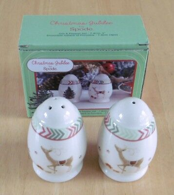 Spode China Salt & Pepper Set - Christmas Jubilee (BNIB)