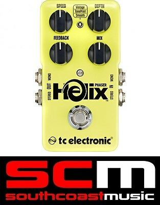 TC Electronic Helix Phaser Phase True Bypass Guitar FX Pedal New