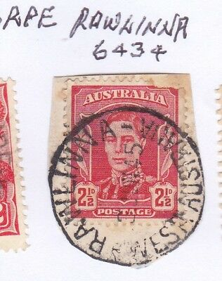 *WA POSTMARKS.RAWLINNA.Type D26.On 2½d KGVi.CTS.Rated2>3.*