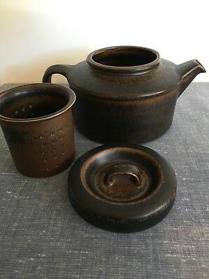 Teapot With Infuser- Ruska By Arabia Of Finland- Mid Century Design (1.25L)