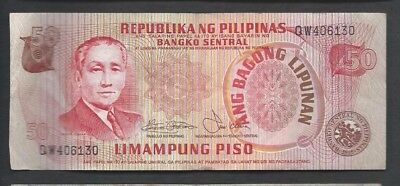 Philippines 1978 50 Piso P 163a Circulated