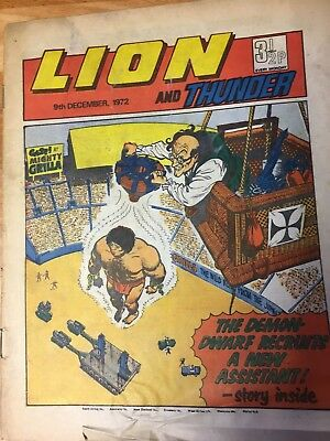 Lion And Thunder Comic 9th December 1972