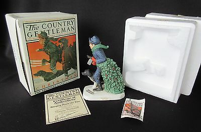 Norman Rockwell 'Bringing Home The Tree' by Dave Grossman Figurine Box Christmas