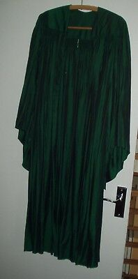 Vintage Academic Robe Green Graduation Gown - M/L
