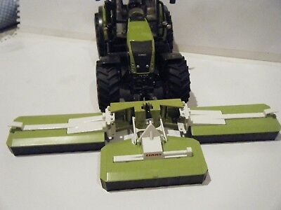 Siku Claas 850 Axion Tractor with Triple Front Mower 1/32