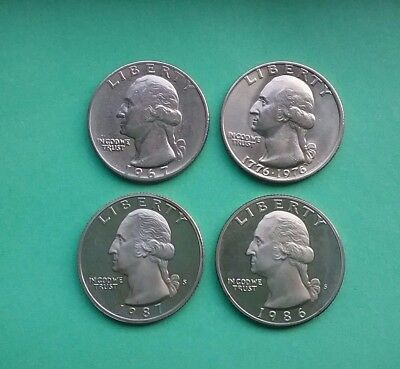 US Washington quarters -  67, 76, 86 & 87