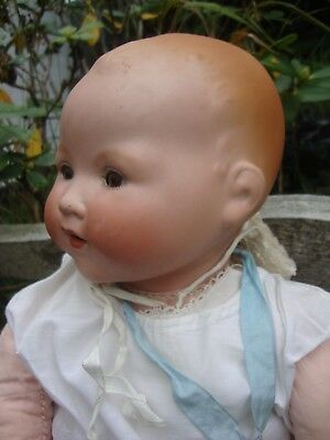 ARMAND MARSEILLE BABY DOLL 20 INCHES WITH TREMBLE TONGUE 1920s