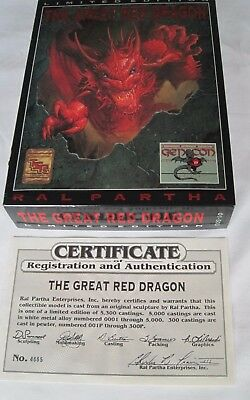The Great Red Dragon - Ral Partha - LIMITED EDITION - BRAND NEW IN BOX