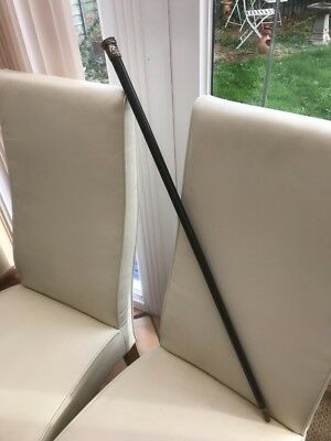 vintage silver top walking cane