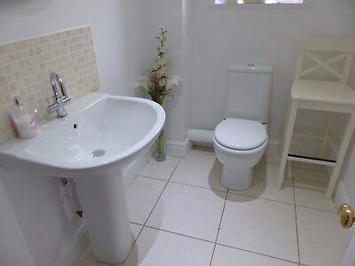 Basin and Toilet Suite Set - Swivel Tap Included