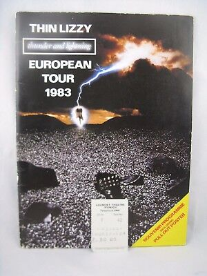 Thin Lizzy - Concert Tour Programme, Ticket Stub And Poster From 1983