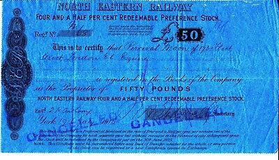 North Eastern Railway Four and a half percent Redeemable Preference Stock