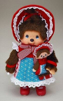 "Japan Sekiguchi Monchhichi S Size 8"" Plush MCC Modern Doll with her Buddy"