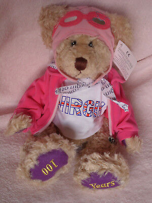 Virgin Atlantic Airlines 100 years collectable Russ Bear Scarlet new with tags