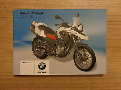 BMW G 650 GS Owners Handbook Manual