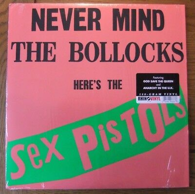 SEX PISTOLS..NEVER MIND THE BOLLOCKS.180g.LP..REPRESS + MINI POSTER..rhino..PUNK