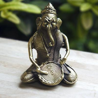 IMI Pure HandCrafted Brass Ganesha with Dhol