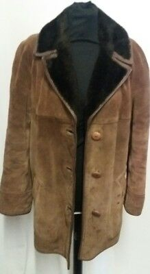 Vintage Heatona Sheepskin Coat Size 16 To 18