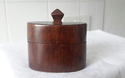 Vintage Hand-Made Treen Wooden Box