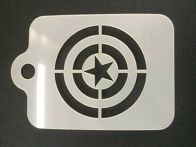 Captain America Shield Face Painting stencil 190micron Washable Reusable Mylar