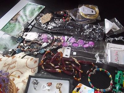 Job Lot Of Costume Jewellery, Earrings, Necklaces, Bangles, Rings, Pendants, Etc