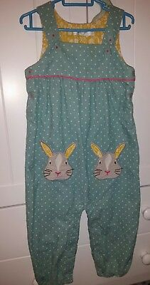 Boden 18-24 rabbit dungarees sought after design baby girl